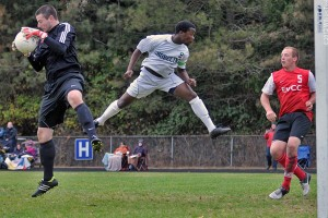 Men's Soccer Ties Pierce On Late Goal